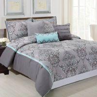 Buy Silver Sparkle 6-Piece Queen Comforter Set in Grey ...