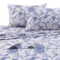 Buy Floral Print 200 GSM Deep-Pocket Twin XL Flannel Sheet ...
