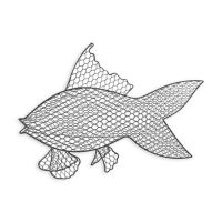 Wire Fish Wall Art with Iron Grey Finish - Bed Bath & Beyond