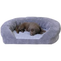 K&H Orthopedic Bolster Sleeper Dog Bed in Gray | Petco