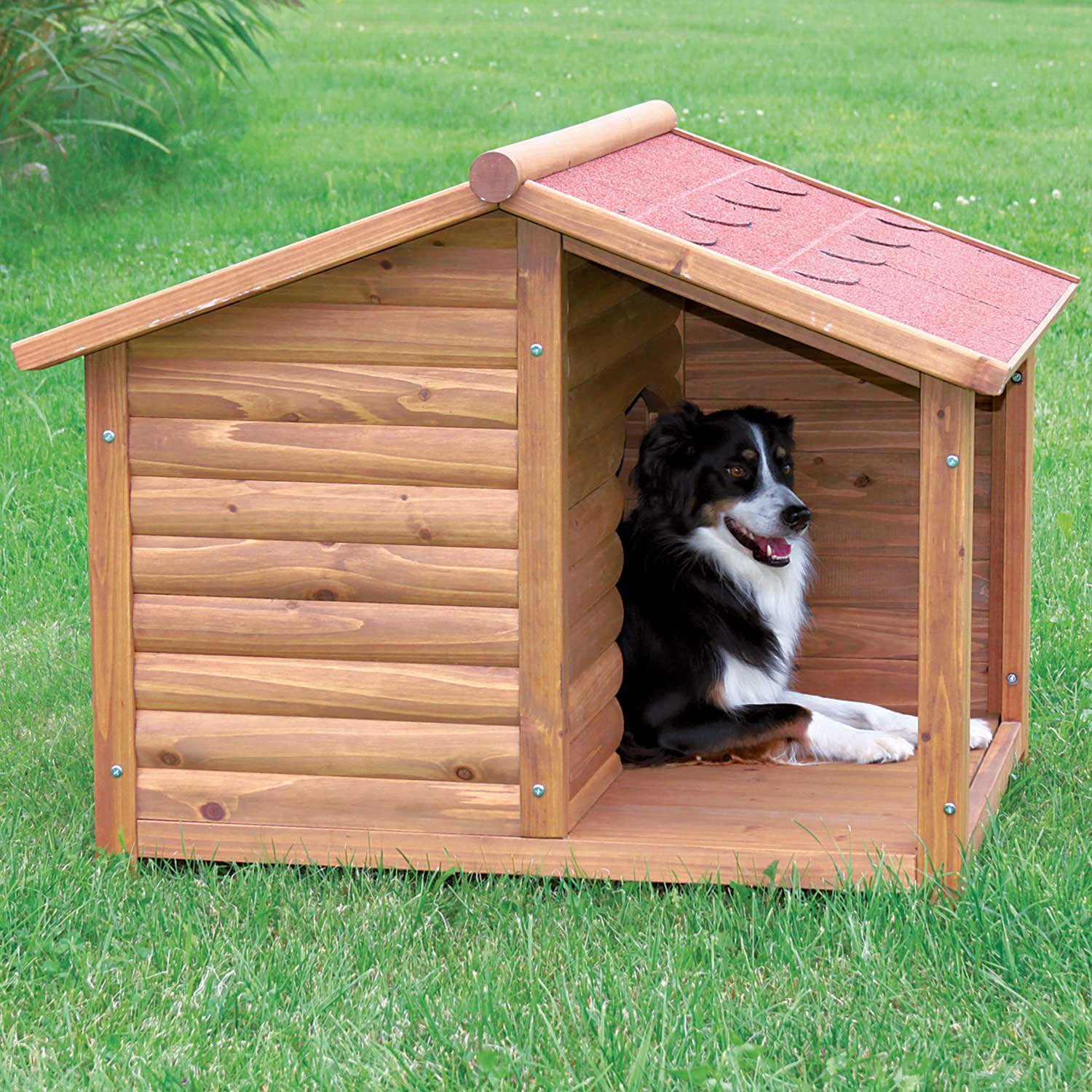 Dog House Trixie Natura Log Dog House Petco