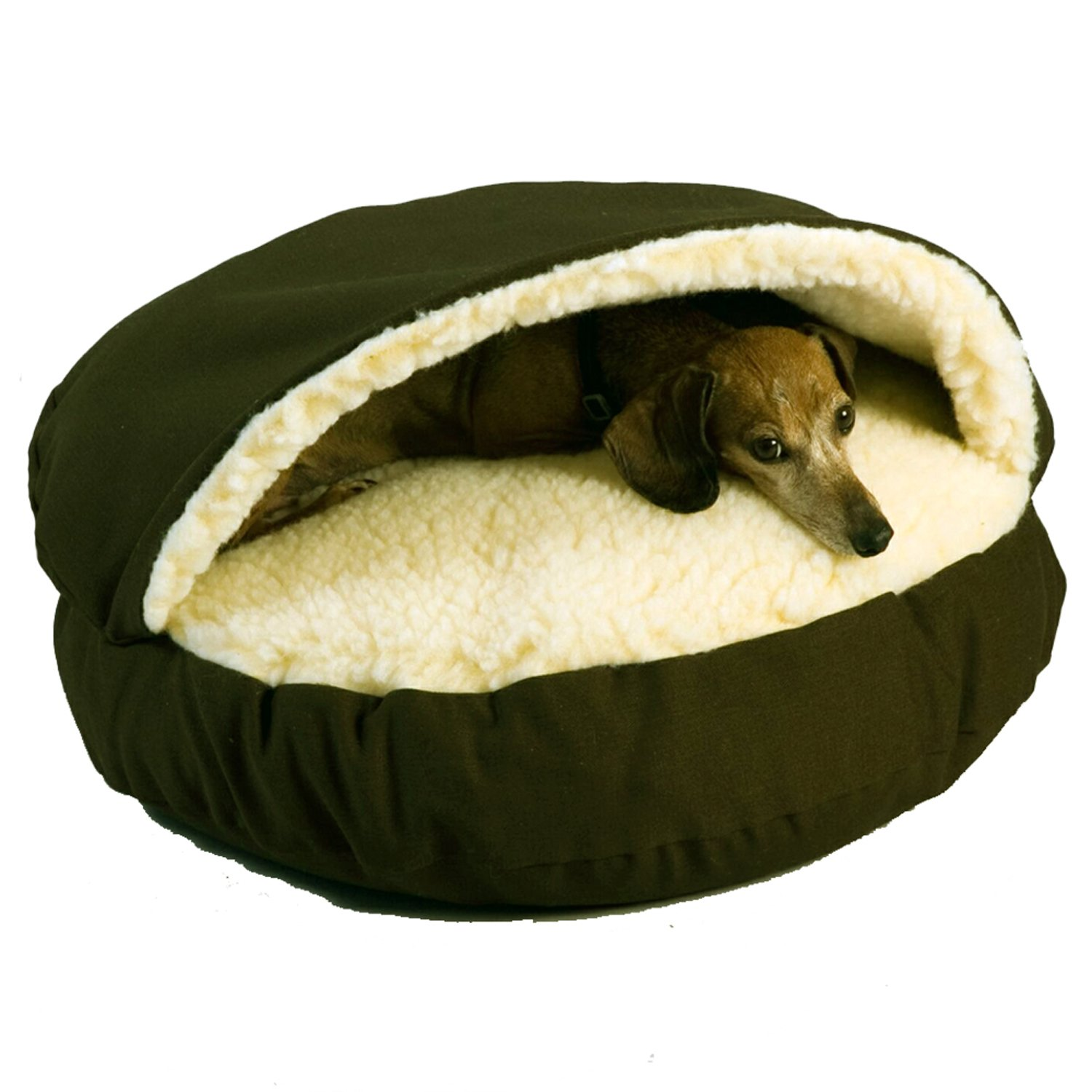 Dog Beds Pet Snoozer Orthopedic Cozy Cave Pet Bed In Olive Cream Petco