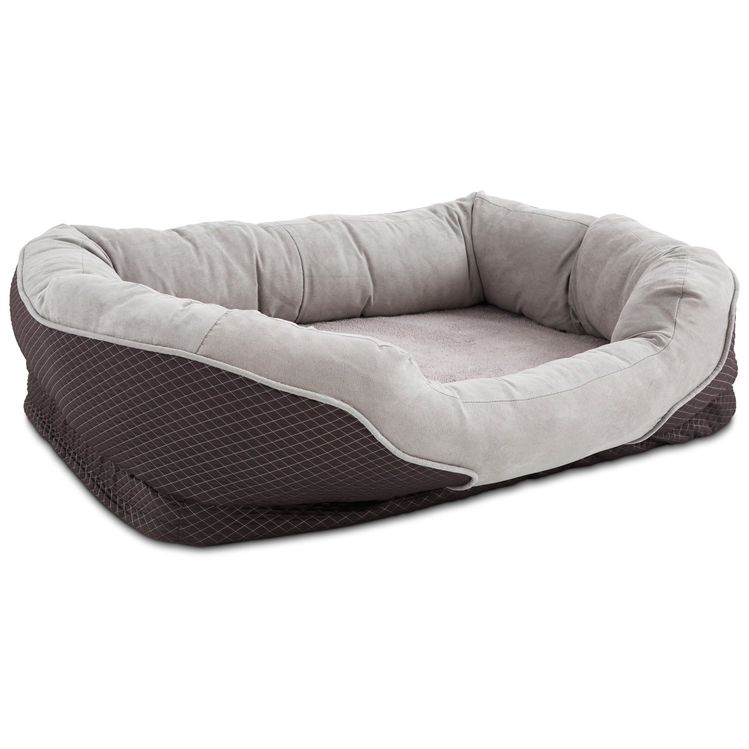 Dog Beds Pet Orthopedic Peaceful Nester Gray Dog Bed Petco