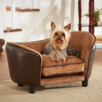 Enchanted Home Pet Ultra Leather Snuggle Dog Bed in Brown ...