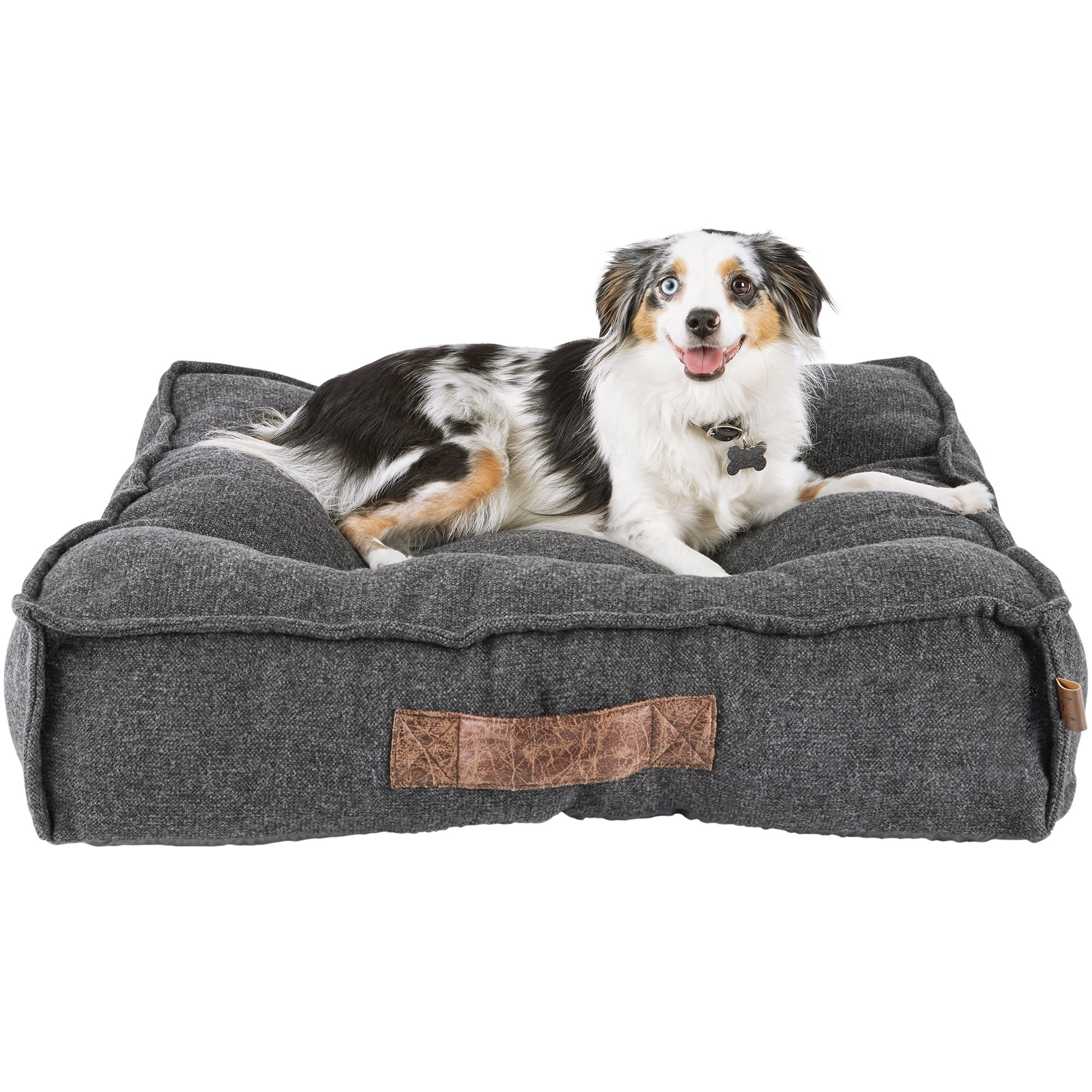 Dog Beds Pet Harmony Grey Lounger Memory Foam Dog Bed Petco