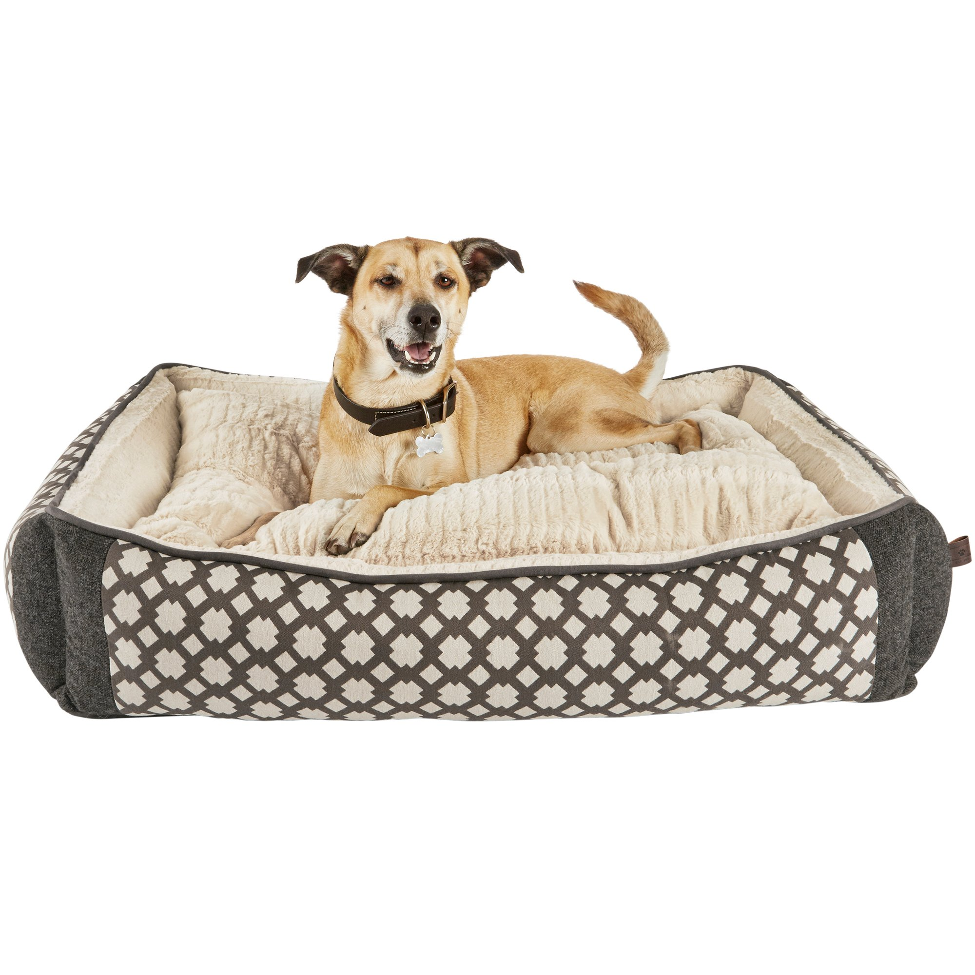 Dog Beds Pet Harmony Grey Nester Orthopedic Dog Bed Petco