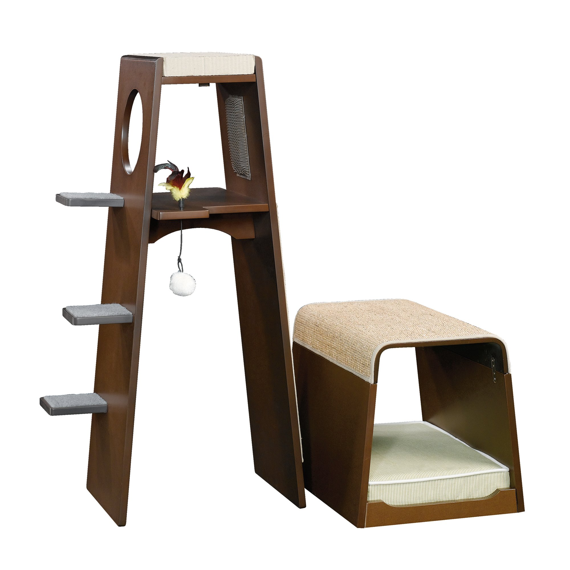 Modern Cat Bed Furniture Sauder Modular Modern Cat Tower Petco
