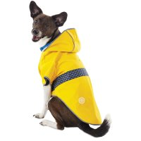 Good2Go Reversible Dog Raincoat in Yellow | Petco