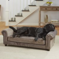 Enchanted Home Pet Grey Velvet Manchester Pet Sofa | Petco