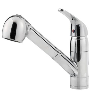 pfister kitchen faucets price pfister kitchen faucets Polished Chrome Pfirst Series 1 Handle Pull out Kitchen Faucet G Polished Chrome Pfirst Series
