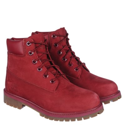 Timberland 6 In Prem Red Natural Casual Lace Up Boots