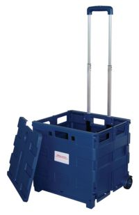 Office Depot Brand Mobile Folding Cart With Lid 16 H x 18 ...