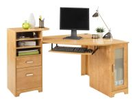 Bradford Corner Desk Oak by Office Depot & OfficeMax