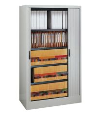 Mayline Kwik File Harbor Storage Cabinet 62 H x 48 W x 17 ...