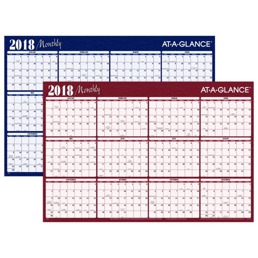 Every Year Calendar Erasable 2018 Quill Brandr Erasable Wall Calendar; Blue 32 X 48 At A Glance Yearly Erasable Wall Calendar Reversible 2