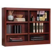 Concepts In Wood Double Wide Bookcase 6 Shelves 36 H x 48 ...