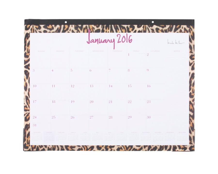 Free Calendar To Write On And Print Free Monthly Calendar Or Planner Printable Online Nicole Miller Monthly Fashion Desk Calendar 22 X 17