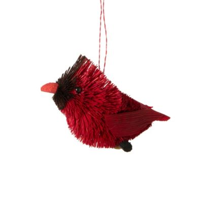 Bristle brush cardinal ornament loading zoom
