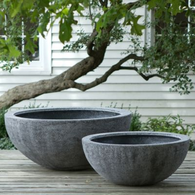 Big Flower Planters Tall Fiberstone Bowl Terrain