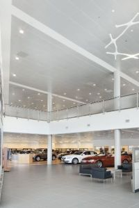 Exterior Metal Panel Ceiling System. acoustical ceiling