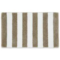 Buy Beach Stripe Bath Rug in Tan/White from Bed Bath & Beyond