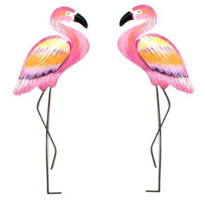 T.I. Design Metal Pink Flamingo Wall Art