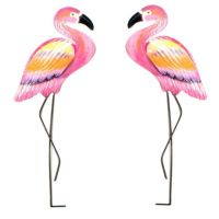 T.I. Design Metal Pink Flamingo Wall Art