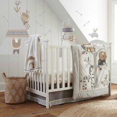 Wallpaper For Baby Girl Bedroom Levtex Baby Kenya Crib Bedding Collection Buybuy Baby