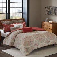 INK+IVY Ballad Comforter Set in Red - Bed Bath & Beyond