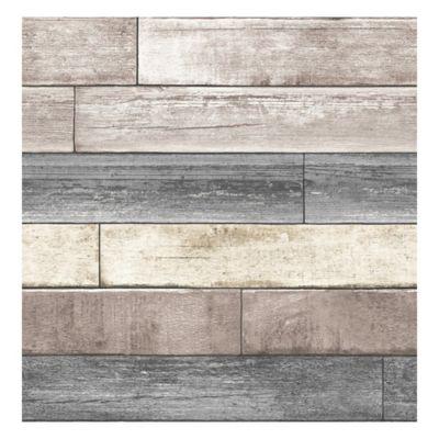 NuWallpaper™ Reclaimed Wood Plank Peel & Stick Wallpaper ...