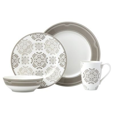 Lenox Neutral Party Medallion Dinnerware Collection