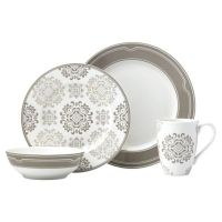 Lenox Neutral Party Medallion Dinnerware Collection - Bed ...