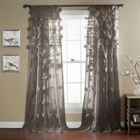 Lush Dcor Riley 84-Inch Rod Pocket Window Curtain Panel ...