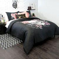 Buy Sugar Skull Twin/Twin XL Comforter Set in Charcoal ...
