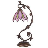 Buy Tiffany Style Lotus Flower Table Lamp in Pink from Bed ...