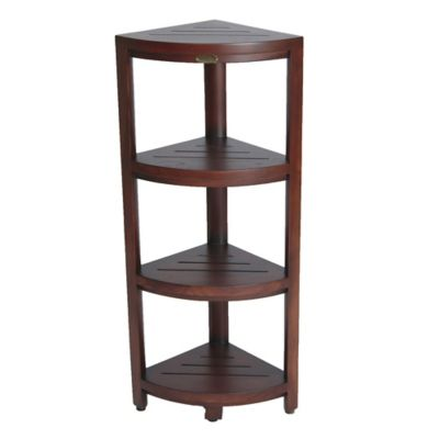 Oasistm Solid Teak 4 Tier Corner Shelf Bed Bath Beyond