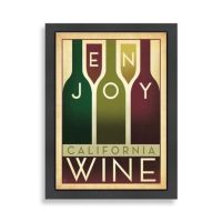 Americanflat California Wine Framed Wall Art - Bed Bath ...