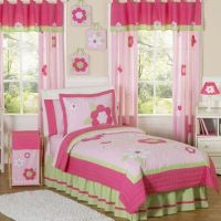 Sweet Jojo Designs Flower Bedding Collection in Pink/Green ...
