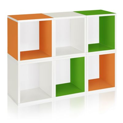 Way Basics Tool Free Assembly Stackable Tall Storage Cubes