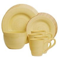 Sonoma 16-Piece Dinnerware Set in Yellow - Bed Bath & Beyond
