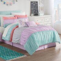 Zoe Reversible Comforter Set in Purple - Bed Bath & Beyond