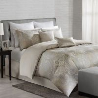 Echo Design Juneau Comforter Set in Neutral - Bed Bath ...