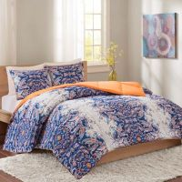 Intelligent Design Minnet Reversible Comforter Set in Blue ...