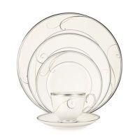 Noritake Platinum Wave Dinnerware Collection - Bed Bath ...