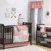 The Peanut Shell Woodland 4-Piece Crib Bedding Set in ...