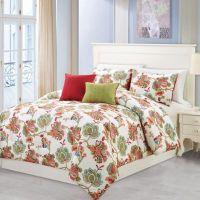 Wissler 5-Piece Comforter Set in Red/Sage - Bed Bath & Beyond