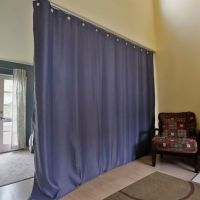 Curtain Room Dividers Ceiling Track | Two Birds Home