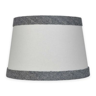 Mix Match Small 10 Inch Textured Black Trim Lamp Shade