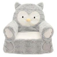 Sweet Seats Plush Owl Chair in Grey - Bed Bath & Beyond