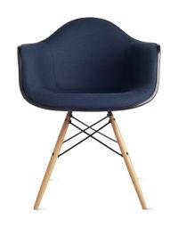 Eames Molded Fiberglass Armchair Dowel Base Upholstered ...